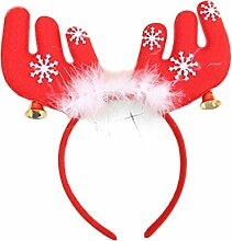 HCFKJ 2017 Mode Weihnachten Feather Bell Big Horn