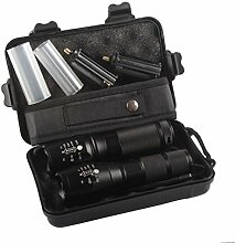 HCFKJ 2x 5000lm X800 Shadow Hawk Tactical Flashlight LED Military Grade G700 Torch Lamp