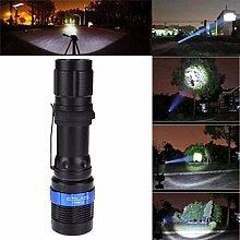 HCFKJ 3000 Lumen Zoomable CREE XM-L Q5 LED Taschenlampe Zoom Super Bright Ligh