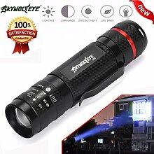 HCFKJ 3000LM zoombare CREE XM-L T6 LED 18650 Taschenlampe Super helle Taschenlampe