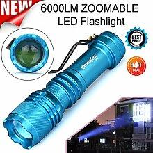 HCFKJ 6000Lm Cree Q5 Aa / 14500 3 Modi Zoomable Led Taschenlampe Super Brigh