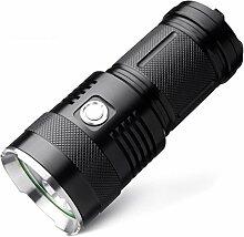 HCFKJ M6 Bright 2000 Lumen wiederaufladbare Taschenlampe, 300 Meter lang Beleuchtung, mit 3 * CREE U2 LEDs Wick Torch Taschenlampe und 5 Light Modes für Wandern, Camping, Stromausfälle und Notfälle