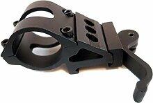 HCFKJ Taktische 1 '' Offset Picatinny / Weaver Schiene 4 Taschenlampe mit Schnellspanner