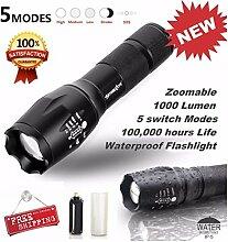 HCFKJ Taktische Led Taschenlampe G700 X800 Zoom Super Bright Military Grade