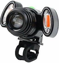 HCFKJ USB Lade Radfahren Fahrrad Kopf Licht