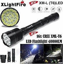 HCFKJ Xlightfire 40000 Lumen 16X Cree Xml T6 5