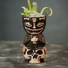 HCHD Keramik-Becher Kokosnuss Form Tiki Becher for