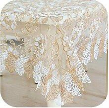 HCIUUI bestickte Tischdecke Spitze Tischdecke für