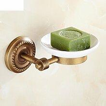 HCP Alle kupfer antique bathroom hardware anhänger Bad-accessoires European keramik single dish soap box