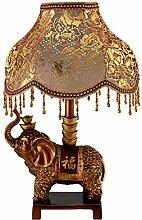 HCP Im europäischen Stil Garten Vintage-Lampe/Schlafzimmer Nachttischlampe/Salon/Studierzimmer/Haushaltsleuchten-Druckschalter