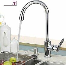 HCP Küchenarmatur/Edelstahl-Waschbecken mit