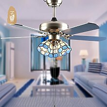 HCP Mittelmeer Kiba Kronleuchter mit Ventilator/Amerikanischen minimalistischen Wohnzimmer Deckenventilator Lichter