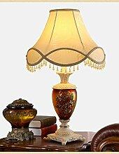 HCP Wohnzimmer im europäischen Stil Keramik Tischlampe/Moderne minimalistische Schlafzimmer Nachttischlampe/Luxus-Glaslampe Studie