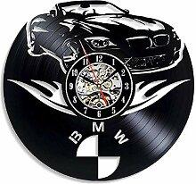 HCPGZ BMW Auto Schallplatte Wanduhr Modernes