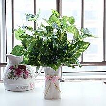 Hctina künstliche Fake Blume Pflanze Blume grün Ananas aus Kunststoff
