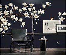 HCWYQ Fototapete Tapete DIY Vintage Blumen- Und