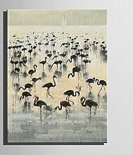 HD Crane Art Print Painting Poster, Kunstdruck