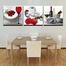 HD gedruckte Wandkunst Leinwand modular Rot Rosé