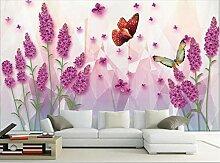 HD Lavendel freie Fliege blühende reiche Tapete