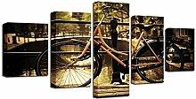 HD Leinwanddruck Wandmalerei Fahrrad Fahrrad Retro