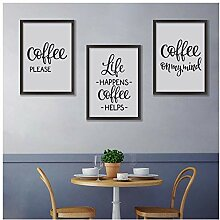Hd Print Coffee Quote Canvas Painting Coffee Art