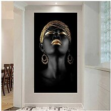 Hd Prints Black Woman On Canvas Canvas Painting