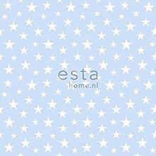 HD Vliestapete kleine Sterne Hellblau - 138729 - von ESTAhome.nl