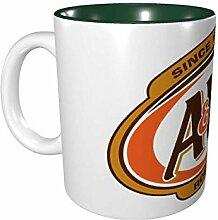 Hdadwy A & W Root Beer Logo 11 Unzen Keramikbecher