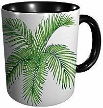 Hdadwy Aquarell Malerei Baum Kokosnuss Palmblatt