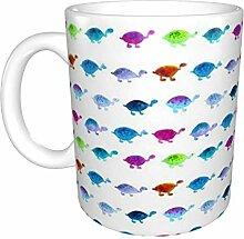 Hdadwy Aquarell Turtles Keramikbecher, Kaffeetasse