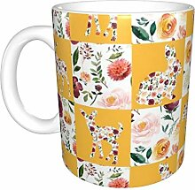 Hdadwy Blumentier Silhouetten Keramikbecher,