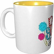 Hdadwy Dr. Seuss 11 Unzen Keramikbecher Lässiges