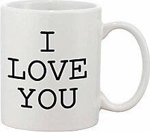 Hdadwy Keramik-Kaffeetasse 2er-Set - Ich liebe