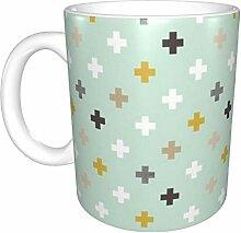 Hdadwy Mint Plusses Keramikbecher, Kaffeetasse