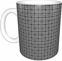 Hdadwy Modern Check Keramikbecher, Kaffeetasse