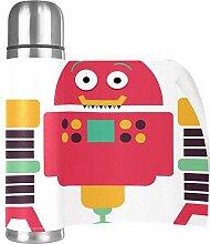 Hdadwy RobotCup Edelstahl Leder Reisebecher Becher
