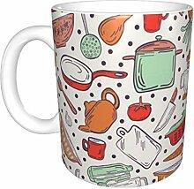 Hdadwy Vintage Kitsch Orange Keramikbecher,