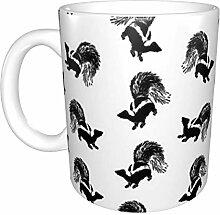 Hdadwy Vintage Skunks Keramikbecher, Kaffeetasse