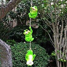 HDAILE Kreative Hanfseil hängend Frosch Feeder