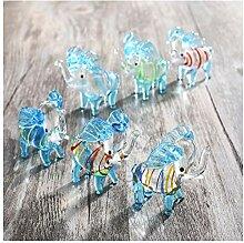 HDCRYSTALGIFTS Crystalsuncatcher 6er Set Elefant