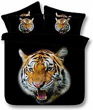 HDDK 3D-Tier-Tiger-Bettwäsche-Set mit 1 Set