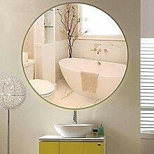 Hdezzz 80cm Badezimmerspiegel rund ohne Rahmen