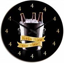 HDF-Wanduhren - Wanduhr Kein Bier vor vier