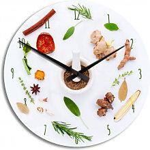 HDF-Wanduhren - Wanduhr Küchenkräuter