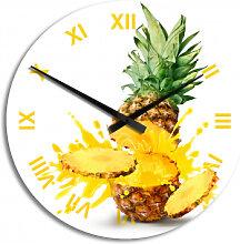 HDF-Wanduhren - Wanduhr Splashing Pineapple