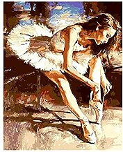 HDGREF Malen nach Zahlen DIY Balletttänzer auf