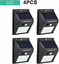 HDJLI Solarlampe 30 LED Wasserdichter PIR