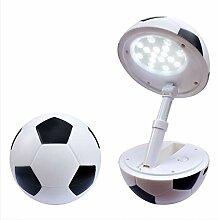 HDJLI Tischlampe LED Kinder Fußball
