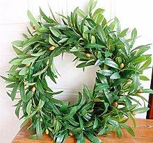HDNSA Weihnachtskranz Künstliche Pflanzen
