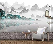 HDOUBR 3D Abstrakte Mountain View Wandgemälde